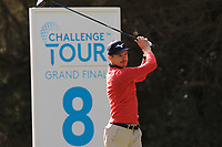 Daan Huizing (NED) on the 8th tee during Round 2 of the Challenge Tour Grand Final 2019 at Club de Golf Alcanada, Port d'Alcúdia, Mallorca, Spain on Friday 8th November 2019.<br /> Picture:  Thos Caffrey / Golffile<br /> <br /> All photo usage must carry mandatory copyright credit (© Golffile | Thos Caffrey)