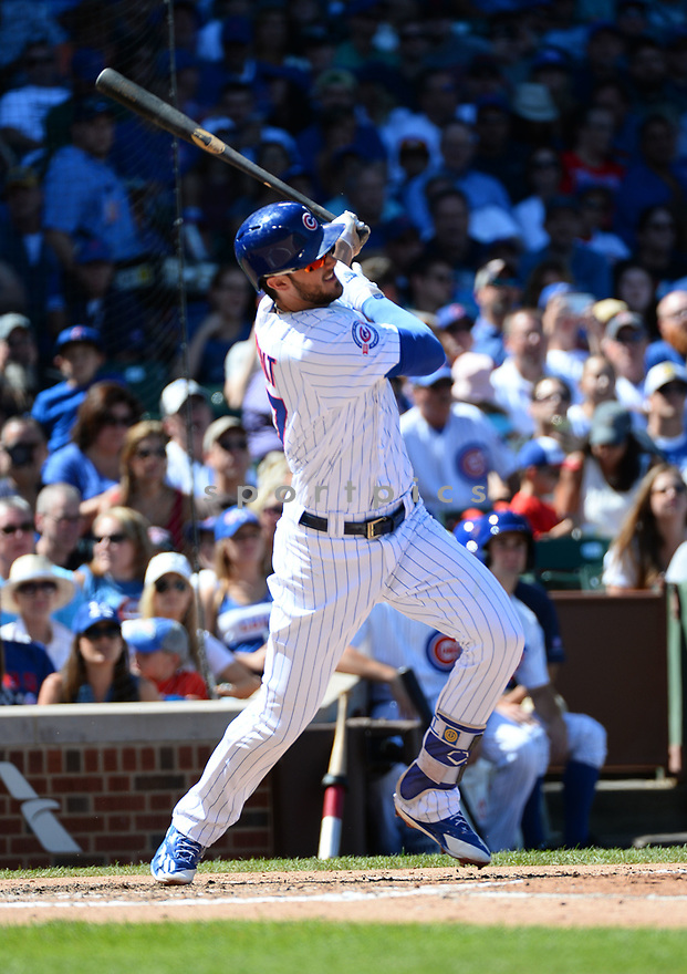 Chicago Cubs Kris Bryant (17) during a game against the San Francisco Giants on September 3, 2016 at Wrigley Field in Chicago, IL. The Giants beat the Cubs 3-2.