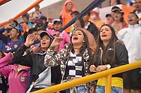 TUNJA - COLOMBIA, 29-03-2018:Hinchas de Boyaca Chicó. Acción de juego entre los equipos  Boyacá Chicó y  Patriotas Boyaca durante partido por la fecha 11 de la Liga Águila I 2018 jugado en el estadio La Independencia de la ciudad de Tunja. / Fans of Boyaca Chico.Action game between Boyaca Chico and Patriotas during match for the date 11 of the Aguila League I 2018 at La Independencia  stadium in Tunja city. Photo: VizzorImage / José Miguel Palencia / Contribuidor