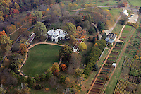 monticello, fall colors, aerial.