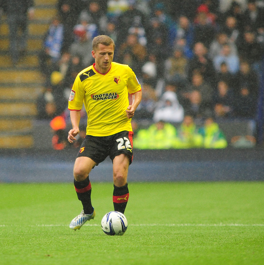 Watford's Almen Abdi .. - (Photo by Chris Vaughan/CameraSport) - ..Football - npower Football League Championship Play-Offs Semi-Final First Leg - Leicester City v Watford - Thursday 9th May 2013 - King Power Stadium - Leicester..© CameraSport - 43 Linden Ave. Countesthorpe. Leicester. England. LE8 5PG - Tel: +44 (0) 116 277 4147 - admin@camerasport.com - www.camerasport.com