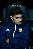 9th January 2018, Mestalla Stadium, Valencia, Spain; Copa del Rey football, round of 16, second leg, Valencia versus Las Palmas; young club promise, Ferran Torres, right wing for Valencia CF, on the bench