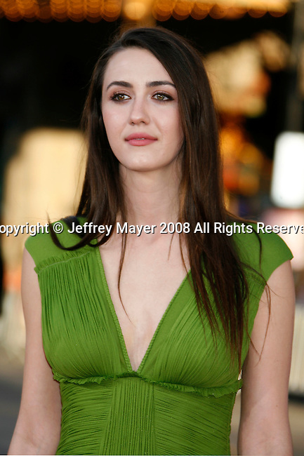 "Actress Madeline Zima arrives at the The World Premiere of ""The X-Files: I Want To Believe"" at Mann's Grauman Chinese Theatre on July 23, 2008 in Hollywood, California."
