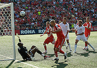 06 June 2009: Toronto FC forward Danny Dichio #9 scores the equalizer during MLS action at BMO Field Toronto in a game between LA Galaxy and Toronto FC. .The Galaxy  won 2-1.