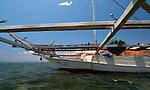 Fishing boat, Papagaran island, Komodo National Park