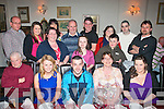 KEY TO THE DOOR: Sean O'Sullivan, Fenit (seated centre) celebrating his 21st birthday in Cassidy's restaurant, Tralee last Saturday night, seated l-r: Jackie Lynch, Ciara Culloty, Sean, Sarah and Patricia O'Sullivan. Back l-r: Mike, Claire and Violet Culloty, Helen and John Flaherty, John Lynch, Rachel Flaherty, Eileen and Killian Lynch, Pa Murphy and Ger Lynch.