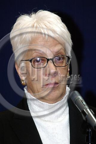 BRUSSELS - BELGIUM - 11 FEBUARY 2004-- Carla DEL PONTE, Prosecutor of the International Criminal Tribunal for former Yugoslavia (ICTY). -- PHOTO: JUHA ROININEN / EUP-IMAGES