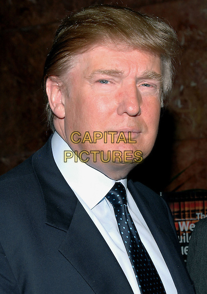DONALD TRUMP.Announces the establishment of Trump University, a business education company, at a press conference at Trump Plaza in New York City..May 23rd, 2005.Photo Credit: Patti Ouderkirk/AdMedia.headshot portrait.www.capitalpictures.com.sales@capitalpictures.com.© Capital Pictures.