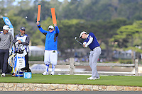 Justin Rose (ENG) tees off the par3 7th tee at Pebble Beach Golf Links during Saturday's Round 3 of the 2017 AT&amp;T Pebble Beach Pro-Am held over 3 courses, Pebble Beach, Spyglass Hill and Monterey Penninsula Country Club, Monterey, California, USA. 11th February 2017.<br /> Picture: Eoin Clarke | Golffile<br /> <br /> <br /> All photos usage must carry mandatory copyright credit (&copy; Golffile | Eoin Clarke)