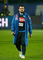 Amin Younes of Napoli before   the  italian serie a soccer match,Atalanta - SSC Napoli at  the Atleti azure d'italia   stadium in Bergamo Italy , December 03, 2018