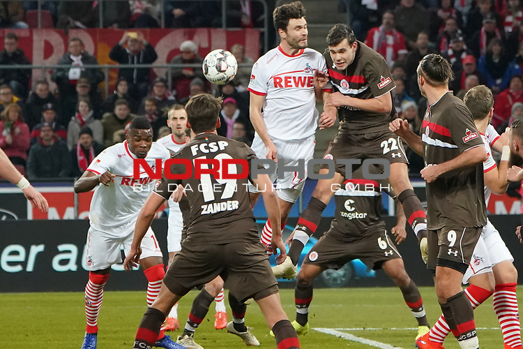 08.02.2019, RheinEnergieStadion, Koeln, GER, 2. FBL, 1.FC Koeln vs. FC St. Pauli,<br />  <br /> DFL regulations prohibit any use of photographs as image sequences and/or quasi-video<br /> <br /> im Bild / picture shows: <br /> 3:1 fuer Koeln und wieder heisst der Torschuetze Jhon C&oacute;rdoba (FC Koeln #15),   <br /> <br /> Foto &copy; nordphoto / Meuter