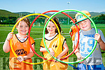 l-r  Leyla Moylan, Kate Hoare and Kieran Lynch enjoying the John Mitchels GAA Club  summer camp for boys and girls aged between 5 and 12 years on Tuesday