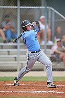 Michael Davinni (11) during the WWBA World Championship at the Roger Dean Complex on October 12, 2019 in Jupiter, Florida.  Michael Davinni attends Aliso Niguel High School in Laguna Niguel, CA and is committed to San Diego.  (Mike Janes/Four Seam Images)