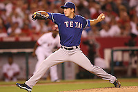 08/16/11 Anaheim, CA: Texas Rangers starting pitcher Derek Holland #45 during an MLB game played between the Texas Rangers and the Los Angeles Angels at Angel Stadium. The Rangers defeated the Angels 7-3.