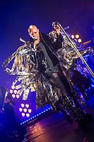"28th August 2019: English rock band Skunk Anansie play The Corn Exchange, Cambridge - Deborah ""Skin"" Dyer - lead vocals, guitar<br /> Martin ""Ace"" Kent - guitar, backing vocals<br /> Richard ""Cass"" Lewis - bass, guitar, backing vocals<br /> Mark Richardson - drums, percussion, backing vocals"