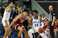 LOS ANGELES, CA - JANUARY 17: Los Angeles, CA - January 15, 2020.  The Stanford Cardinal men's basketball team defeated the UCLA Bruin's 74-59.  It was Stanford's first win at Pauley Pavilon since the 2004-2005 season. during a game between UCLA and Stanford Basketball M at Pauley Pavilon on January 17, 2020 in Los Angeles, California.