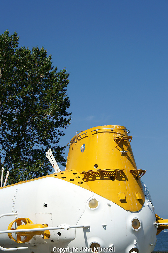 The submersible Ben Franklin at the Vancouver Maritime Museum, Vanier Park, Vancouver, British Columbia, Canada