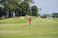 SINGAPORE - MARCH 02: Minjee Lee of Australia on the 18th green during the third round of the HSBC Women's World Championship 2019 at Sentosa Golf Club - Tanjong Course, Singapore on March 02, 2019.<br /> .<br /> .<br /> .<br /> (Photo by: Naratip Golf Srisupab/SEALs Sports Images)<br /> .<br /> Any image use must include a mandatory credit line adjacent to the content which should read: Naratip Golf Srisupab/SEALs Sports Images