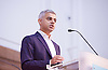 Sadia Khan addresses the first Knife Crime Summit <br /> London 2016 <br /> MOPAC <br /> at Friend's Meeting House, London, Great Britain <br /> 13th October 2016 <br /> <br /> Sadiq Khan <br /> Mayor of London <br /> <br /> <br /> Photograph by Elliott Franks <br /> Image licensed to Elliott Franks Photography Services
