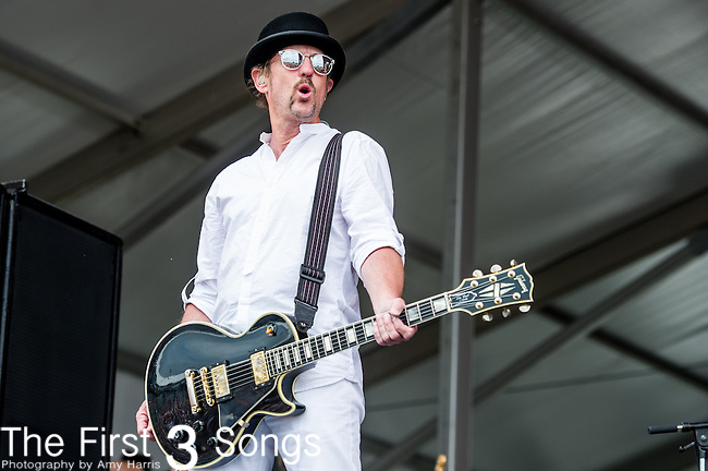 John Thomas Griffith of Cowboy Mouth performs during the New Orleans Jazz & Heritage Festival in New Orleans, LA.