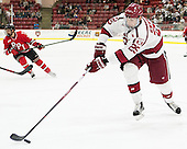 Wiley Sherman (Harvard - 25) - The Harvard University Crimson defeated the visiting Rensselaer Polytechnic Institute Engineers 5-2 in game 1 of their ECAC quarterfinal series on Friday, March 11, 2016, at Bright-Landry Hockey Center in Boston, Massachusetts.