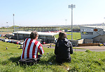 Sheffield United fans watch from the top of the hill during the League One match at the Sixfields Stadium, Northampton. Picture date: April 8th, 2017. Pic David Klein/Sportimage