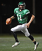 Kevin McCormick #11 of Farmingdale looks for an open receiver as he scrambles out of the pocket during the Nassau County Conference I varsity football semifinals against Oceanside at Hofstra University on Saturday, Nov. 11, 2017.