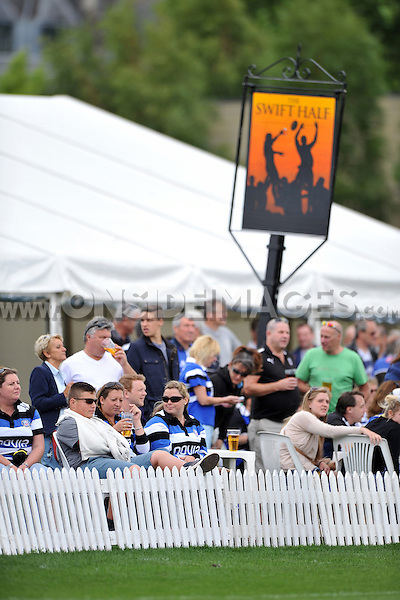 A general view of the The Swift Half during the pre-match warm-up. Pre-season friendly match, between Bath Rugby and the Scarlets on August 16, 2014 at the Recreation Ground in Bath, England. Photo by: Patrick Khachfe / Onside Images