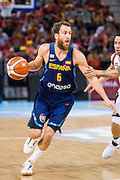 Spain's basketball player Sergio Rodriguez during the  match of the preparation for the Rio Olympic Game at Madrid Arena. July 23, 2016. (ALTERPHOTOS/BorjaB.Hojas) /NORTEPHOTO.COM