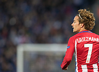 Antoine Griezmann of Club Atletico de Madrid during the UEFA Champions League QF 2nd Leg match between Leicester City and Atletico Madrid at the King Power Stadium, Leicester, England on 18 April 2017. Photo by Andy Rowland.