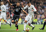 Carlos Henrique Casemiro (r) of Real Madrid battles for the ball with Celso Borges Mora of RC Deportivo La Coruna during the La Liga match between Real Madrid and RC Deportivo La Coruna at the Santiago Bernabeu Stadium on 10 December 2016 in Madrid, Spain. Photo by Diego Gonzalez Souto / Power Sport Images