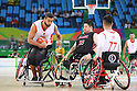 (L-R) Ozgur Gurbulak (TUR), Hiroaki Kozai (JPN), <br /> SEPTEMBER 8, 2016 - Wheelchair Basketball : <br /> Preliminary Round Group A<br /> match between Turkey 65-49 Japan<br /> at Carioca Arena 1<br /> during the Rio 2016 Paralympic Games in Rio de Janeiro, Brazil.<br /> (Photo by AFLO SPORT)