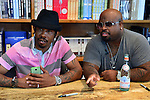 CORAL GABLES, FL - SEPTEMBER 21: Big Gipp of the Goodie Mob and CeeLo Green greets fans and signs copies of his book 'Everybodys Brother' at Books and Books on September 21, 2013 in Coral Gables, Florida. (Photo by Johnny Louis/jlnphotography.com)