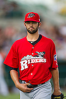 Frisco Roughriders pitcher Nick Martinez (31) during the Texas League baseball game against the San Antonio Missions on August 22, 2013 at the Nelson Wolff Stadium in San Antonio, Texas. Frisco defeated San Antonio 2-1. (Andrew Woolley/Four Seam Images)