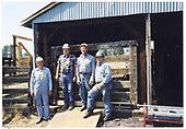 Workers at Chama stock pens.<br /> C&amp;TS  Chama, NM  Taken by Hall, Glenn - 6/18/2002