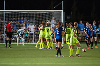 Kansas City, MO - Saturday June 17, 2017: Seattle Reign FC, celebrate, celebration during a regular season National Women's Soccer League (NWSL) match between FC Kansas City and the Seattle Reign FC at Children's Mercy Victory Field.