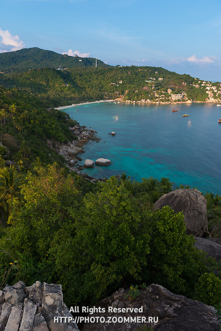 Shark bay view from the high rocky viepoint, Thailand