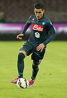 Jose Callejon   in action during the Italian Serie A soccer match between SSC Napoli and Verona  at San Paolo stadium in Naples, October 26, 2014