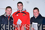 .GREYHOUNDS: Marking their programmes at the Kingdom Greyhound Stadium, Tralee on Friday night, l-r: John O'Rourke (Ballyduff), David Galvin (Lixnaw) and Kevin O'Connor (Ballyduff).........