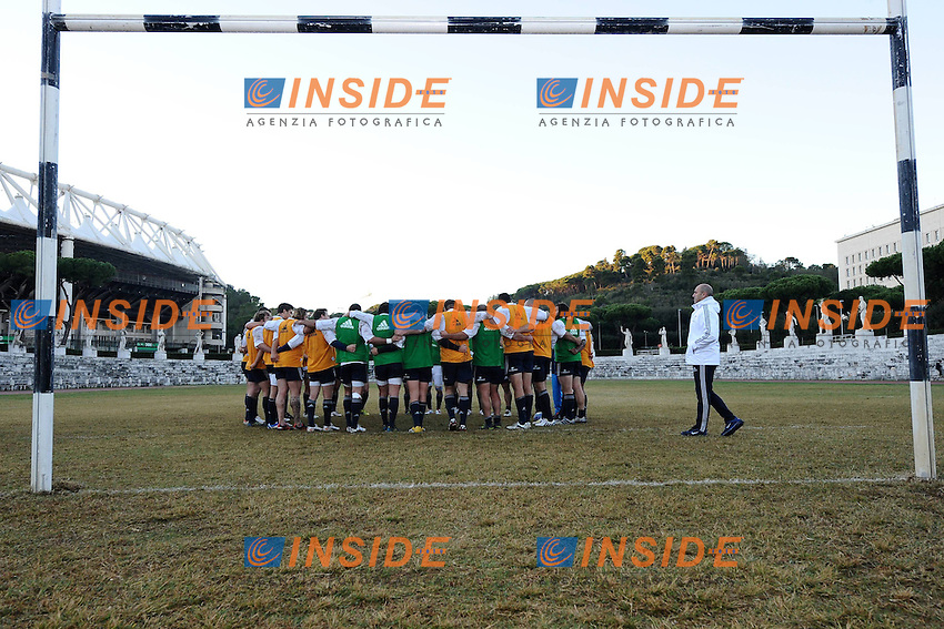 .29/10/2012 Roma, Stadio dei Marmi..Allenamento della Nazionale Italiana di Rugby.Foto Antonietta Baldassarre / Insidefoto .Training of Italian national team of Rugby to prepare Test matches..