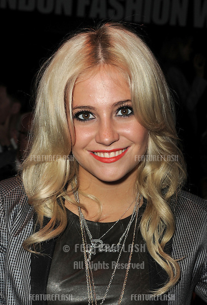 Pixie Lott at the Jaeger Show for London Fashion Week, Somerset House, London. 21/09/2010  Picture by: Simon Burchell / Featureflash
