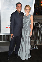 Dean Devlin &amp; Lisa Brenner at the premiere for &quot;Geostorm&quot; at TCL Chinese Theatre, Hollywood. Los Angeles, USA 16 October  2017<br /> Picture: Paul Smith/Featureflash/SilverHub 0208 004 5359 sales@silverhubmedia.com