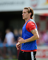 Lincoln City's James Rowe during the pre-match warm-up <br /> <br /> Photographer Chris Vaughan/CameraSport<br /> <br /> Football - Pre-Season Friendly - Lincoln United v Lincoln City - Saturday 8th July 2017 - Sun Hat Villas Stadium - Lincoln<br /> <br /> World Copyright &copy; 2017 CameraSport. All rights reserved. 43 Linden Ave. Countesthorpe. Leicester. England. LE8 5PG - Tel: +44 (0) 116 277 4147 - admin@camerasport.com - www.camerasport.com