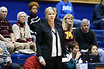03 December 2015: Minnesota head coach Marlene Stollings. The Duke University Blue Devils hosted the University of Minnesota Golden Gophers at Cameron Indoor Stadium in Durham, North Carolina in a 2015-16 NCAA Division I Women's Basketball game. Duke won the game 84-64.