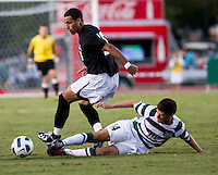 The number 5 ranked Charlotte 49ers play the University of South Carolina Gamecocks at Transamerica field in Charlotte.  Charlotte won 3-2 in the second overtime.  Bradlee Baladez (10), Nick Barnhorst (14)