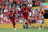 Liverpool's Mohamed Salah<br /> <br /> Photographer Rob Newell/CameraSport<br /> <br /> The Premier League - Liverpool v West Ham United - Sunday August 12th 2018 - Anfield - Liverpool<br /> <br /> World Copyright &copy; 2018 CameraSport. All rights reserved. 43 Linden Ave. Countesthorpe. Leicester. England. LE8 5PG - Tel: +44 (0) 116 277 4147 - admin@camerasport.com - www.camerasport.com