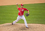 28 July 2013: Washington Nationals pitcher Ryan Mattheus on the mound against the New York Mets at Nationals Park in Washington, DC. The Nationals defeated the Mets 14-1. Mandatory Credit: Ed Wolfstein Photo *** RAW (NEF) Image File Available ***
