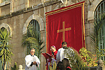 Israel, Jerusalem, the Latin Patriarch of Jerusalem Fouad Twal on Palm Sunday at Saint Anne Church