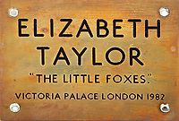 BNPS.co.uk (01202 558833)<br /> Pic: Juliens/BNPS<br /> <br /> Dressing room door from 'The Little Foxes'.<br /> <br /> A spectacular collection of over 1,000 items charting Elizabeth Taylor's life including her iconic outfits are up for sale for over £1million. ($1.25million)<br /> <br /> Dozens of designer gowns, fur coats and capes are being auctioned by the trustees of the estate of the late English actress.<br /> <br /> Also going under the hammer are the Hollywood icon's stylish wigs, scarves, shoes and jewellery.<br /> <br /> Items of her lavish furniture from her luxury homes across the world, right down to her personalised salt and pepper shaker, are included.