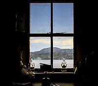BNPS.co.uk (01202 558833)<br /> Pic: GeoffAllan/BNPS<br /> <br /> View from Cruib Bothy on Jura.<br /> <br /> Wilderness walks - new book takes you down paths less travelled in the beautiful Scottish highlands.<br /> <br /> The stunning photos reveal Scotland's best remote walks, and also provide a rudimentary roof over your head at the end of the day. <br /> <br /> Geoff Allan has spent over 30 years travelling the length and breadth of the scenic country, passing through idyllic and untouched landscapes.<br /> <br /> The routes he has selected feature secret beaches, secluded glens, hidden caves and mountains.<br /> <br /> They also include bothies - remote mountain huts - which provide overnight shelter in the wilderness.<br /> <br /> Geoff has listed his top 28 trails complete with GPS maps and descriptions in his book Scottish Bothy Walks.